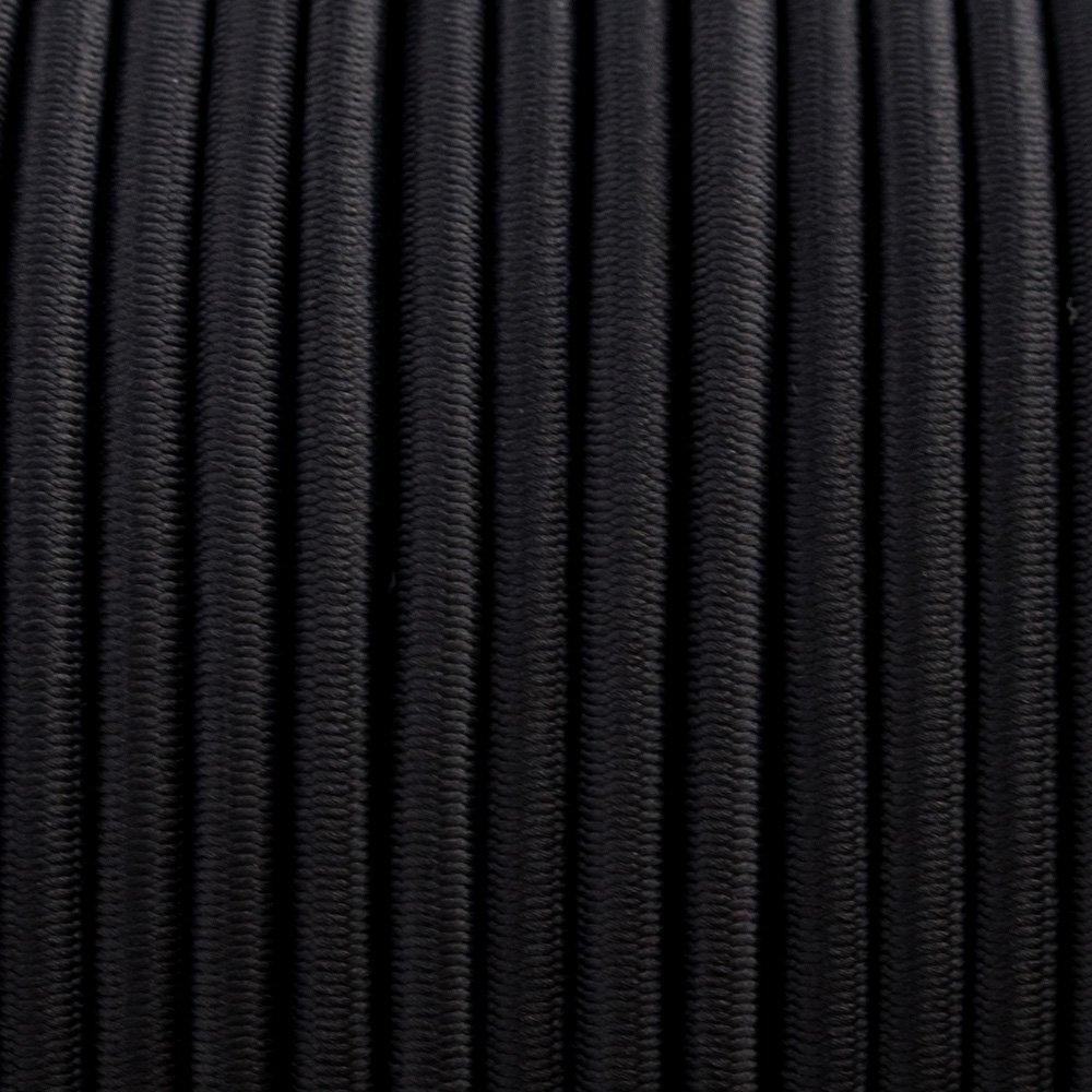 Black - Elastic Cord 4 mm