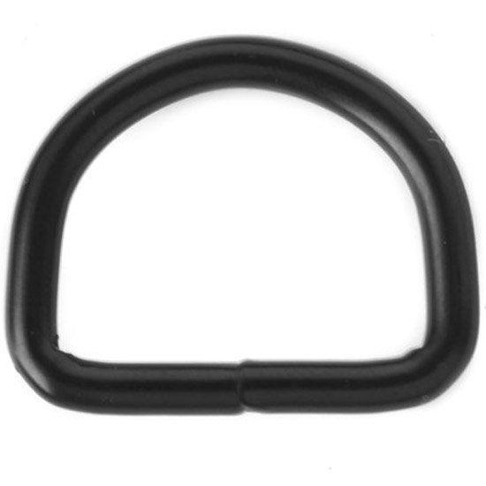 D-ring Black 40 x 5 mm.