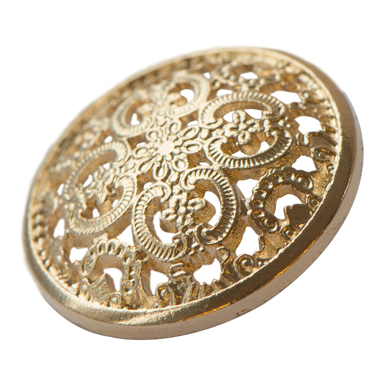 Gold Button 25 mm