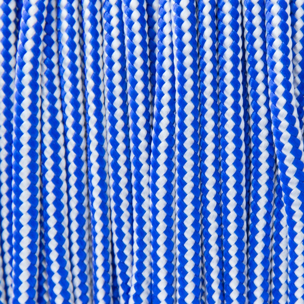 Electric Blue & Silver Grey Stripes Type II