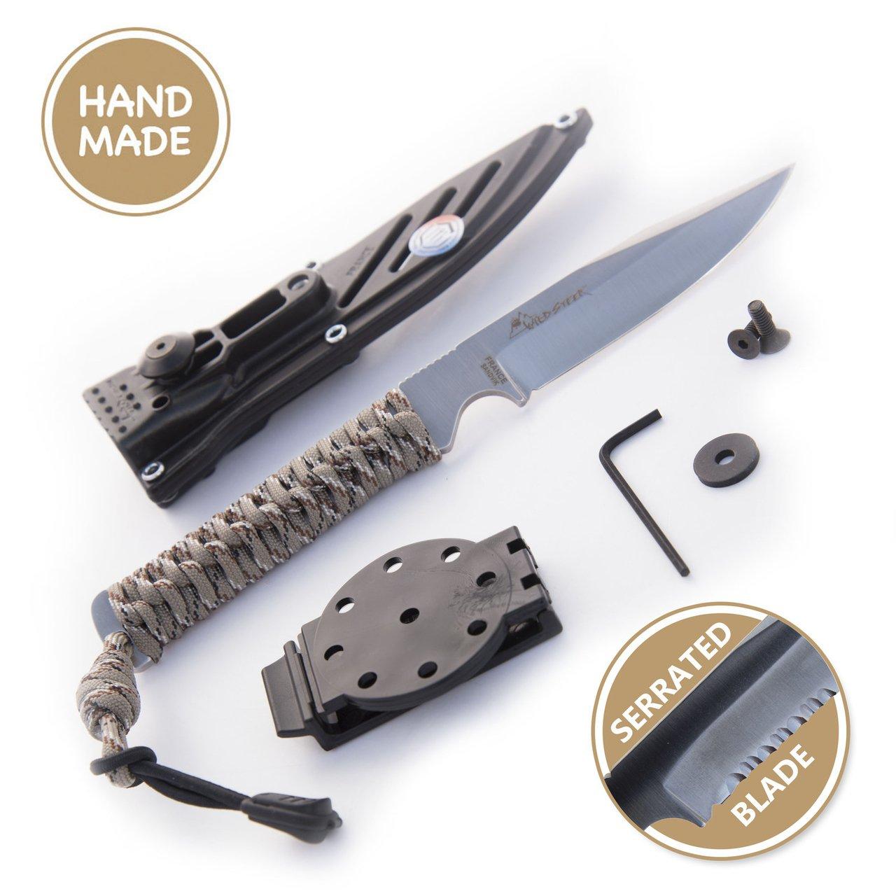 Wildtech 4 Serrated Knife (Desert Camo)