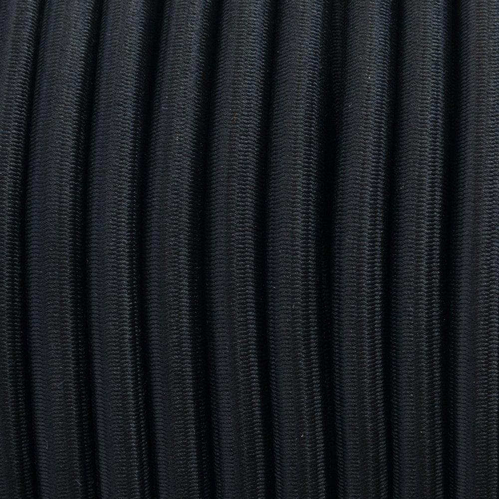 Black - Elastic Cord 6 mm