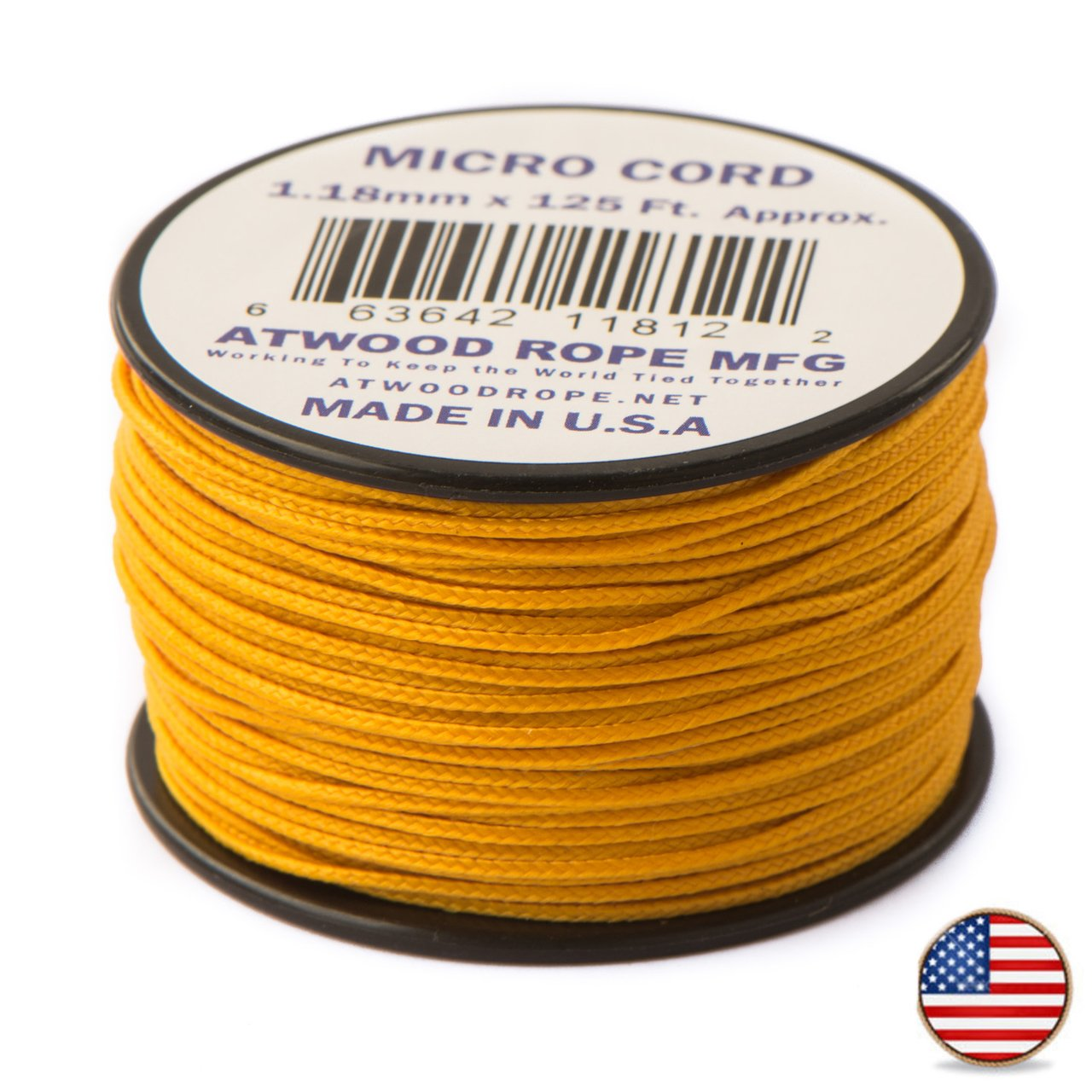 38 mtr. Air Force Gold - Micro Paracord