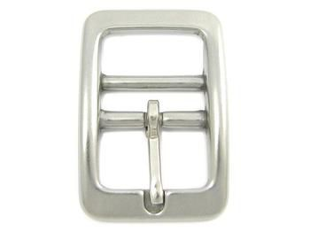 Nickel double-barred buckle 16mm (5/8