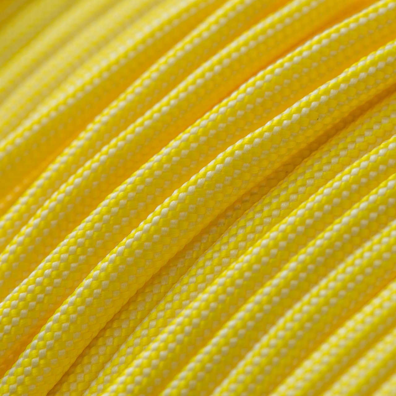 Canary Yellow & White Stripes Paracord Type III