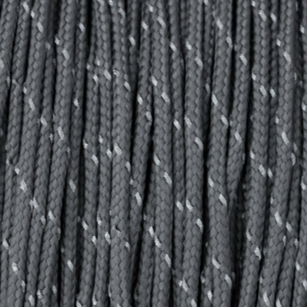 Reflectable Charcoal Grey Paracord Type I