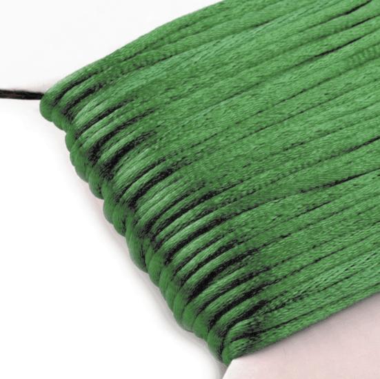 Green - 2mm - Rattail Satin Cord (25 mtr.)