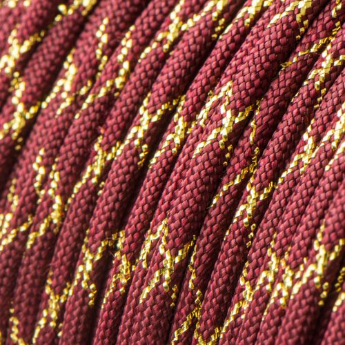 Metallic Glitter Burgundy & Gold Tracer X Paracord Type III