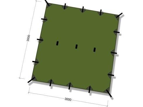 DD Tarp 3m x 3m - Olive green