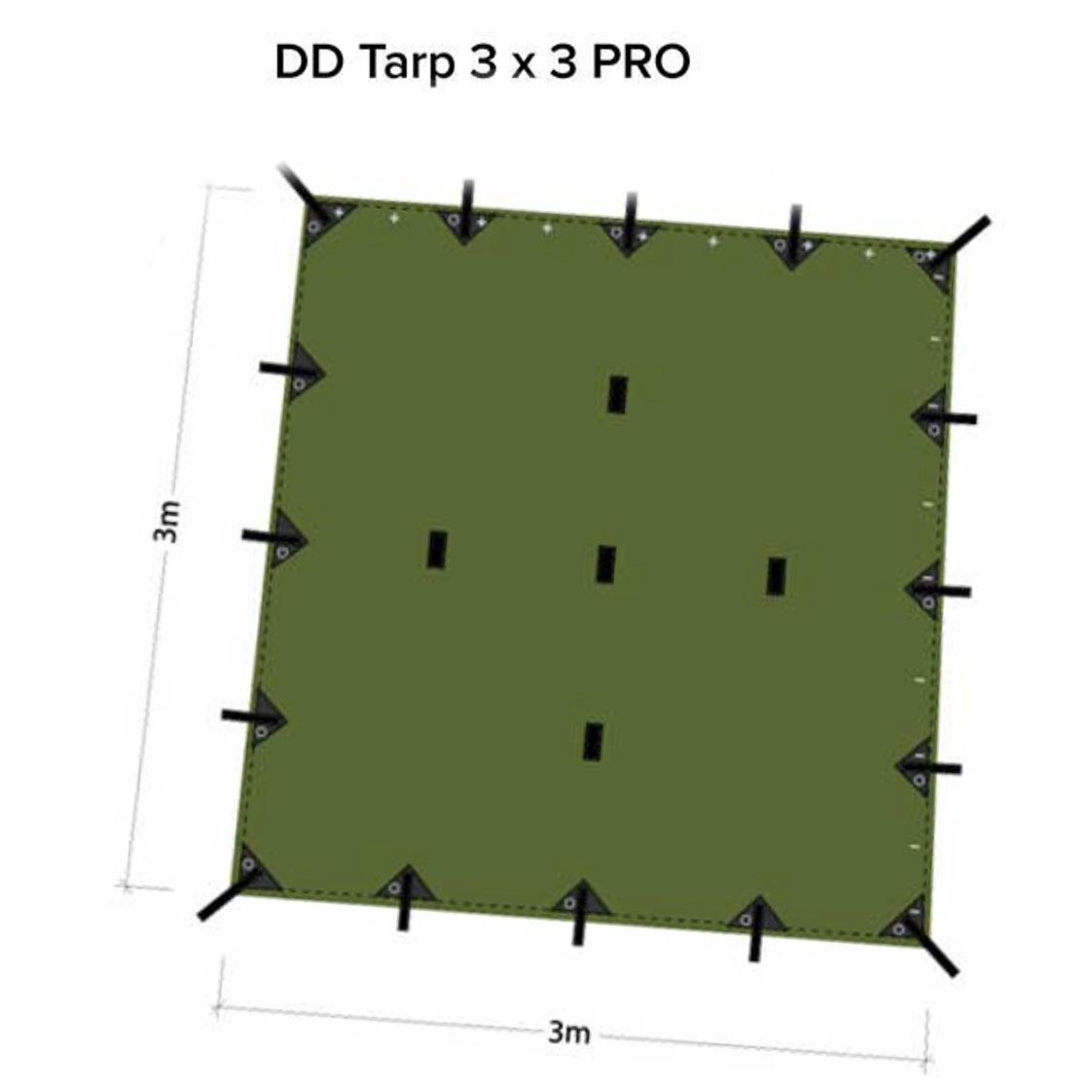 DD Tarp PRO 3 x 3 m. Olive Green